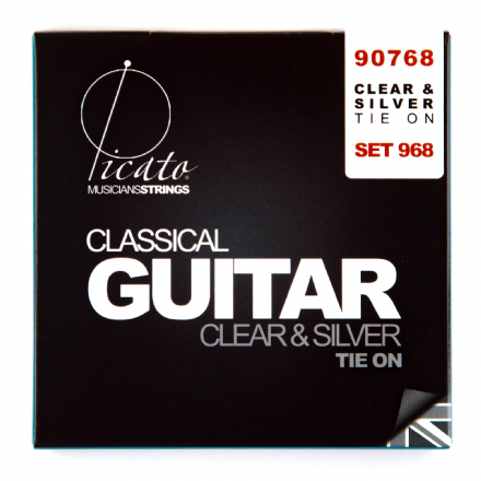 Picato Clear & Silver Normal Tension Nylon Classical Guitar Strings